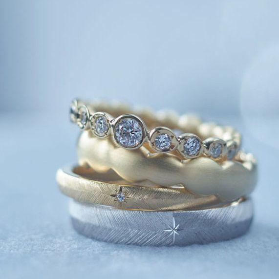 クラフトマンシップあふれる結婚指輪