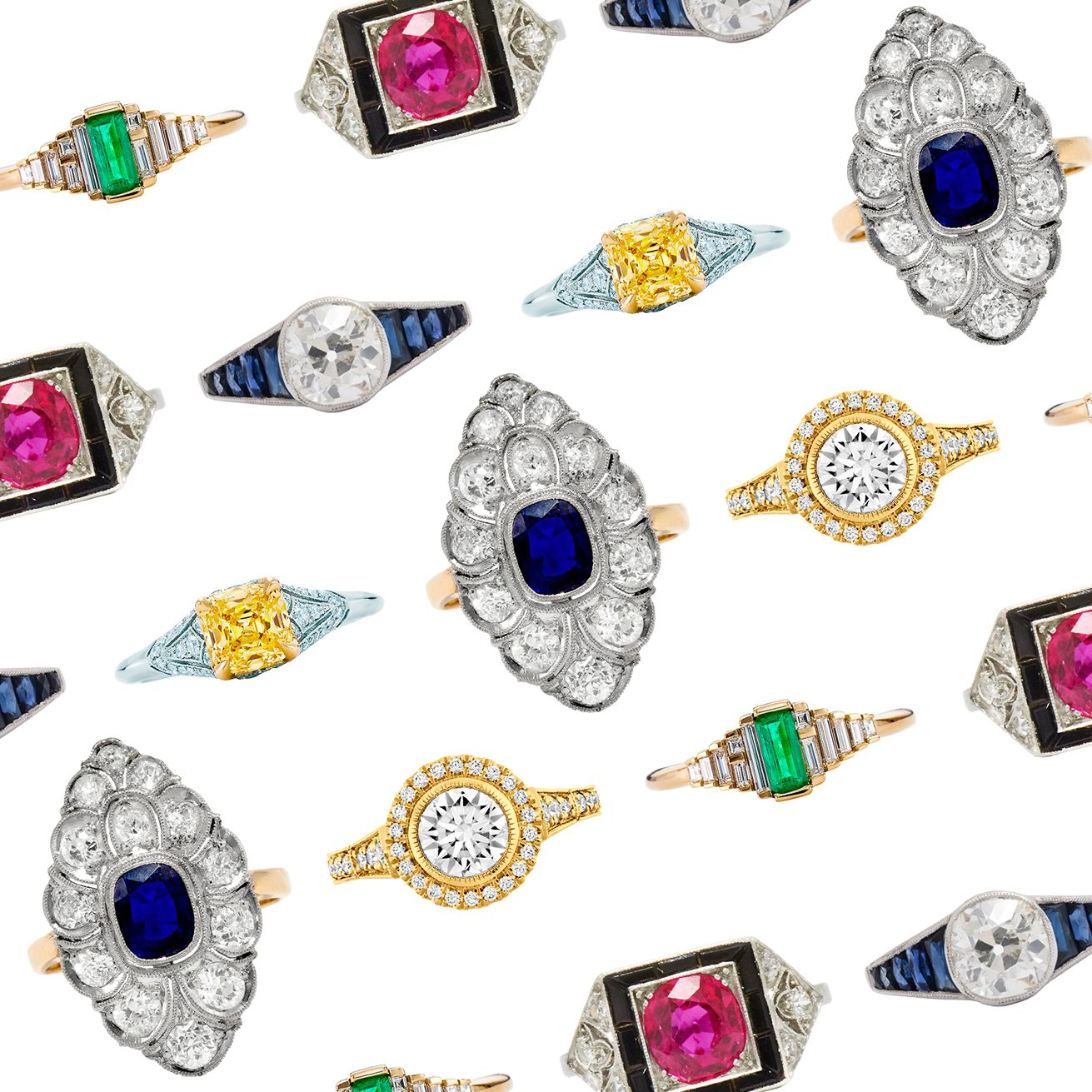 17 Art Deco Engagement Rings to Swoon Over