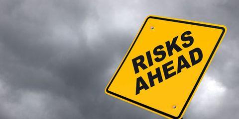 Risks Ahead Sign
