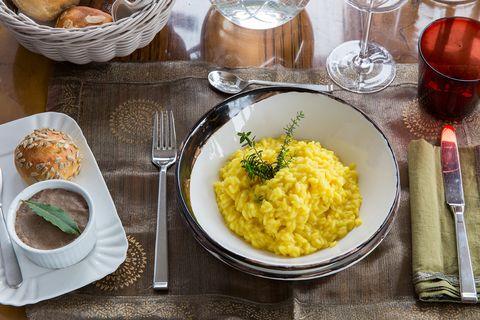 Dish, Food, Cuisine, Ingredient, Risotto, Produce, Vegetarian food, Polenta, À la carte food, Brunch,