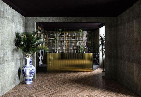 Architecture, Room, House, Building, Interior design, Floor, Flooring, Tile, Home, Bottle,