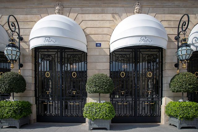 paris, france   march 18 a view at the main entrance of the ritz hotel closed on the second day after the announcement by french president emmanuel macron of the confinement of the french due to an outbreak of coronavirus pandemic covid 19 on march 18, 2020 in paris, france the president launched the war against the coronavirus and placed france in containment, from march 17, 2020 at noon for at least two weeks, the french will have to stay at home unless travel is absolutely necessary the coronavirus pandemic has exceeded more than 198,000 infections across the world with over 8000 deaths photo by marc piaseckigetty images