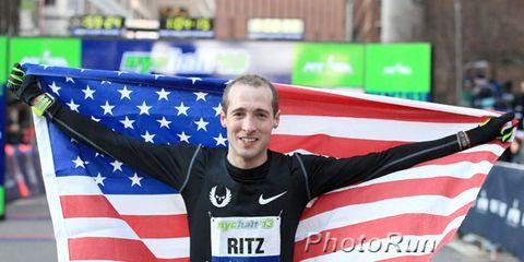 Dathan Ritzenhein after the 2013 NYC Half Marathon