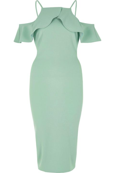 Green, Clothing, Dress, Aqua, Product, Turquoise, Sleeve, Teal, Cocktail dress, Shoulder,