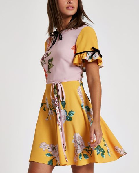 flowery tea dress