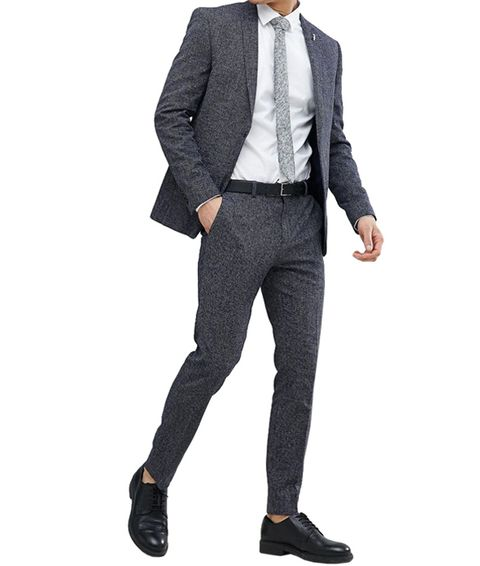 bdaa2ab413f182 River Island. image. Courtesy. Textured Skinny Fit Suit