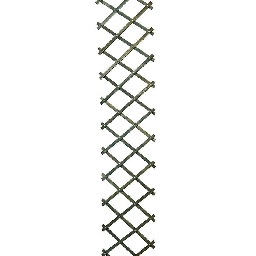 Riveted diamond trellis -green