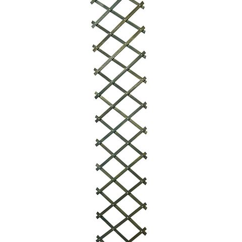 Riveted diamond trellis -green