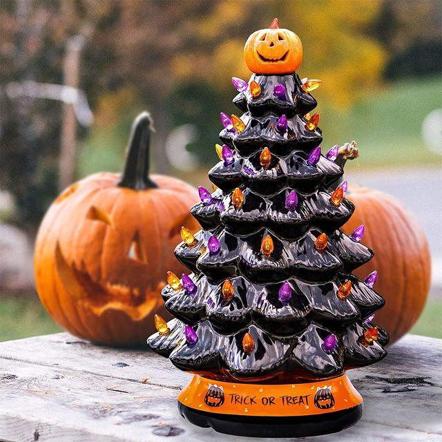 black ceramic halloween tree from rj legend