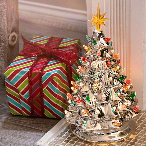 This Gold Ceramic Christmas Tree Will Add to a Hint of ...