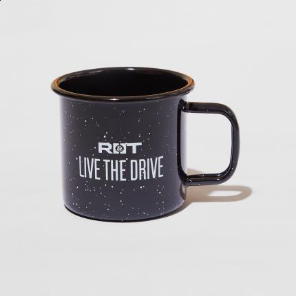 live the drive road  track camper mug