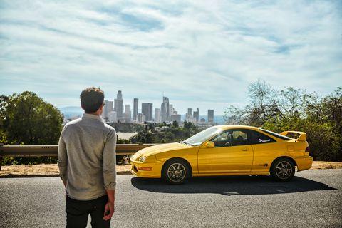Land vehicle, Vehicle, Car, Yellow, Coupé, Automotive design, Sports car, Sedan, Sky, Rolling,
