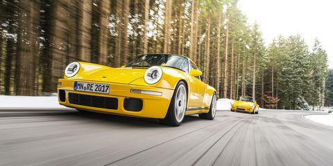 Land vehicle, Vehicle, Car, Yellow, Regularity rally, Automotive design, Coupé, Supercar, Sports car, Porsche 911,