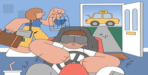 Cartoon, Motor vehicle, Animated cartoon, Mode of transport, Transport, Line, Seat belt, Illustration, Sharing, Vehicle,
