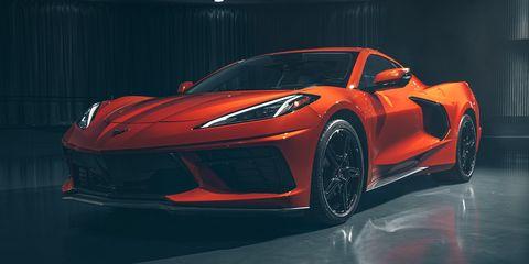 Land vehicle, Vehicle, Car, Supercar, Automotive design, Sports car, Performance car, Red, Auto show, Luxury vehicle,