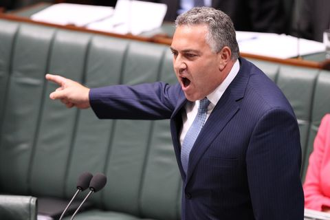 treasurer joe hockey during question time in the house of representative at parliament house in canberra on tuesday, dec 10, 2013 aap imagestefan postles no archiving