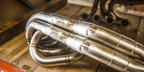 Automotive exhaust, Exhaust system, Auto part, Brass instrument, Muffler, Metal, Euphonium, Pipe,