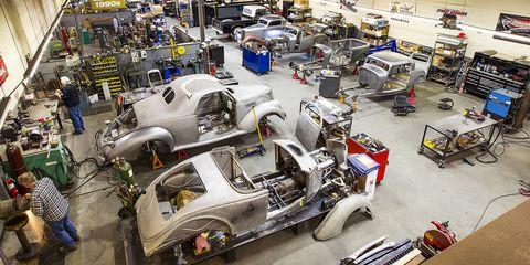 Motor vehicle, Vehicle, Car, Factory, Automotive design, Mass production, Industry, Antique car, Vintage car, Automobile repair shop,