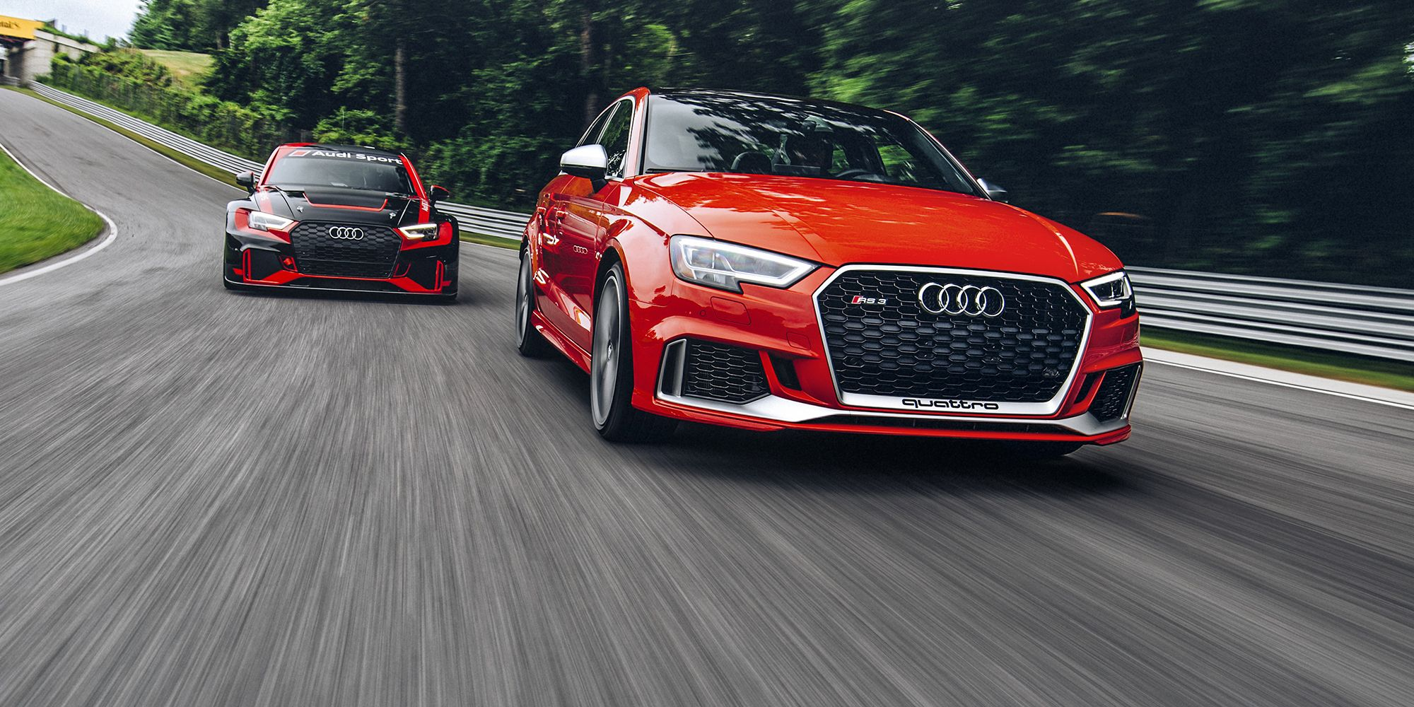 Audi Rs3 And Rs3 Tcr Race Car The Road Track Test