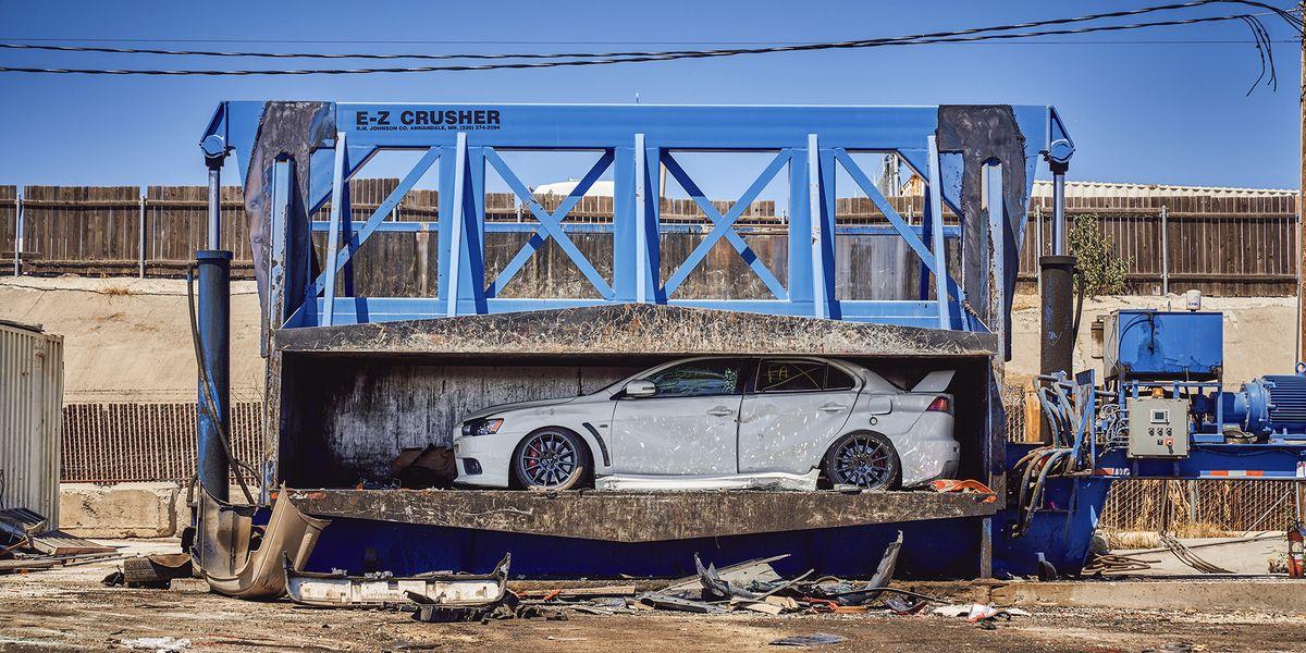 Driving the Last Brand-New Mitsubishi Evo to its Grave