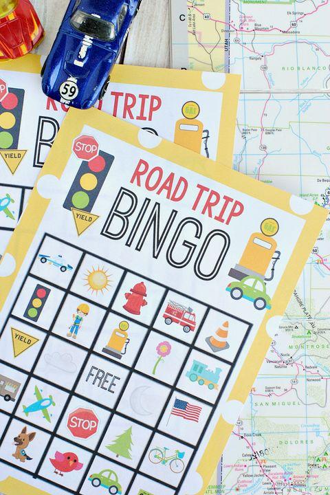 Printable Road Trip Bingo Game Car Games For Kids