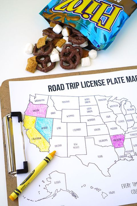 Road Trip Games - Happiness Is Homemade License Plate Maps