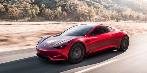 New Tesla Roadster Elon Musk Unveils Roadster As World S