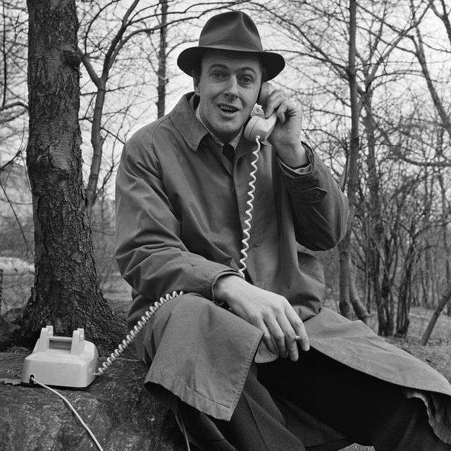 roald dahl answers a telephone while filming an episode of the science fiction show way out in central park, new york, march 25, 1961 photo by cbs photo archivegetty images