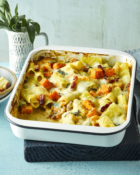 best pasta bake recipes roast butternut, bacon and sage pasta bake