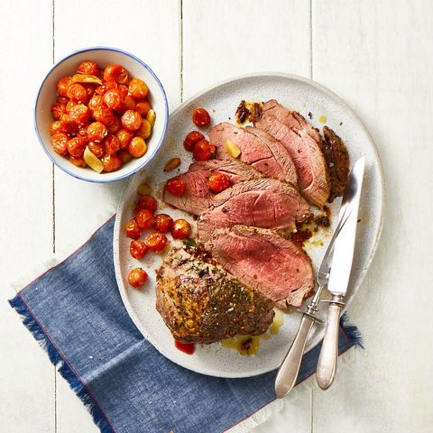 roast lamb with roasted tomatoes