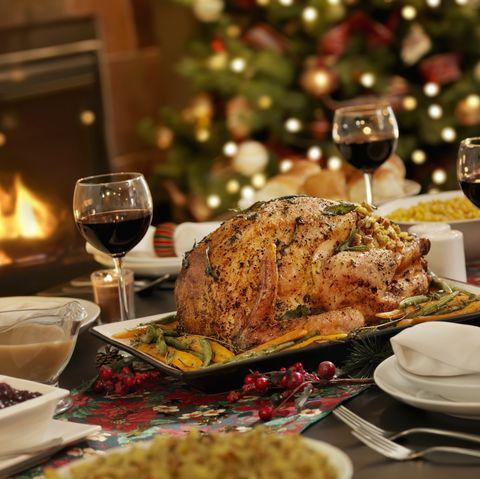 roast turkey with bread stuffing