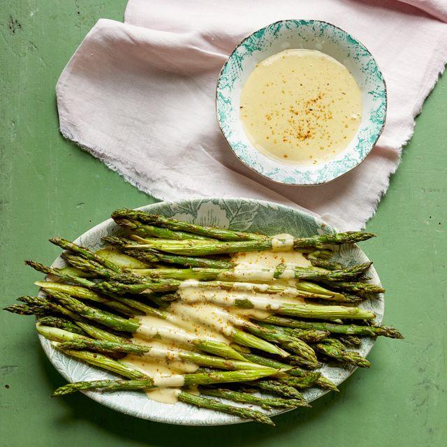 roasted asparagus with cajun hollandaise recipe
