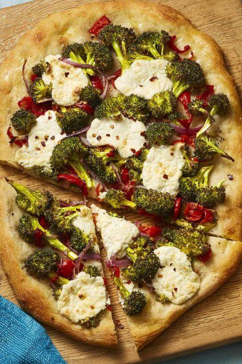 Roasted Broccoli and Lemony Ricotta Flatbread