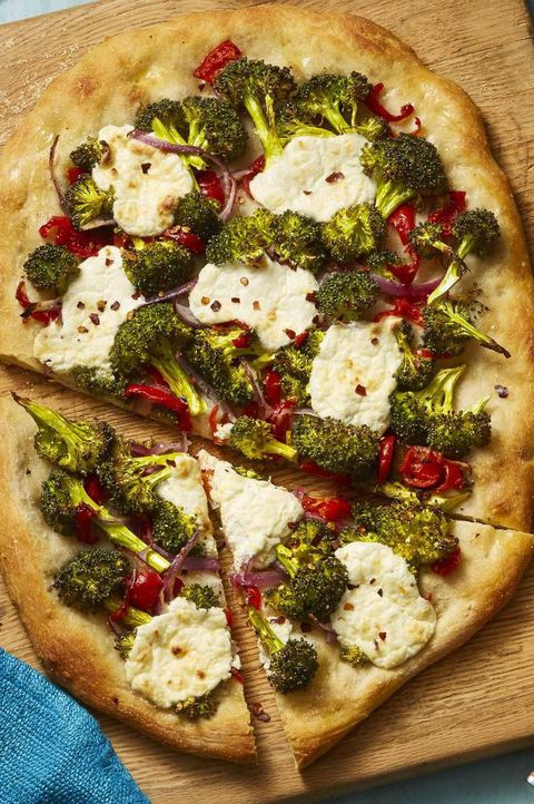 Easter appetizers - Roasted Broccoli and Lemony Ricotta Flatbread