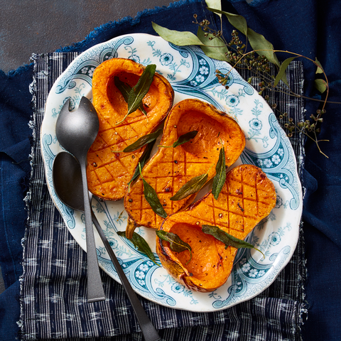 roasted butternut squash with frizzled sage