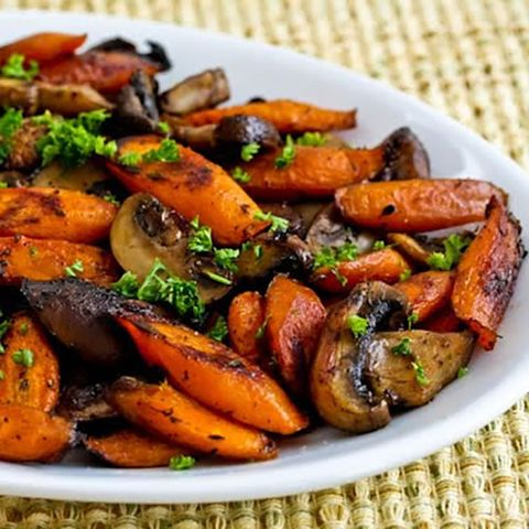 roasted carrots and mushrooms paleo