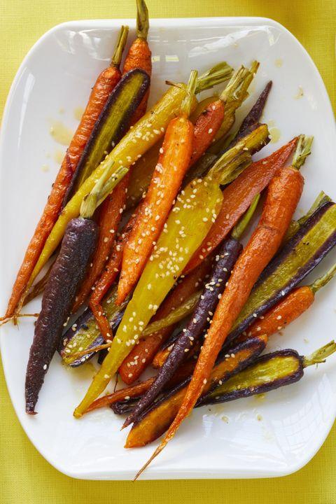 Easter dinner ideas -roasted carrots with citrus vinaigrette
