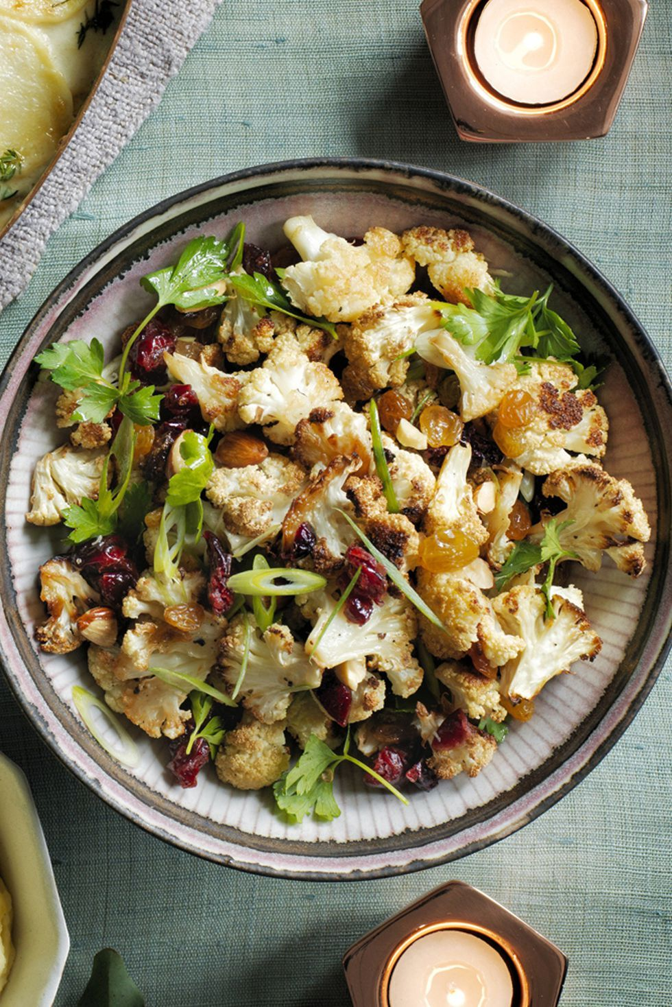 Healthy Thanksgiving Recipes Roasted Cauliflower Salad
