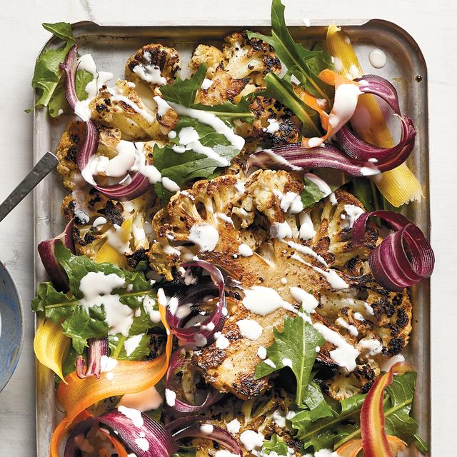 healthy keto recipe cauliflower steak salad