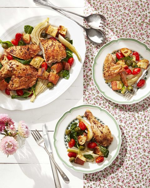 chicken dinner ideas Roasted Chicken with Tomatoes and Fennel