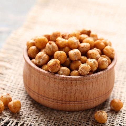 healthy plant-based snacks - roasted chickpeas