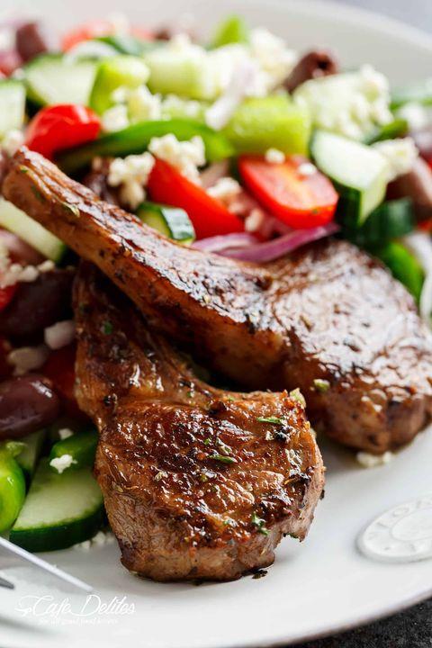 roasted lamb chops greek