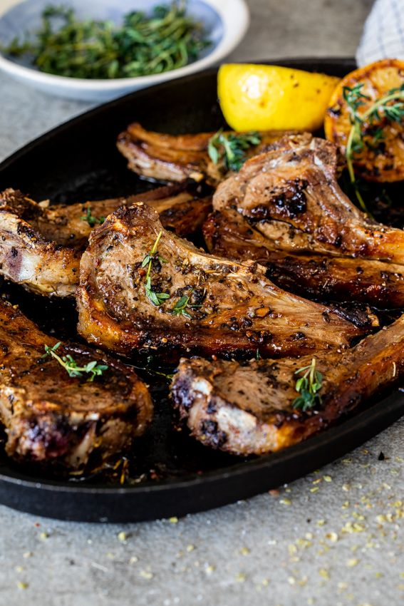 roasted lamb chops lemon garlic