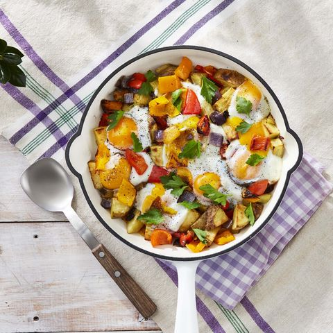 roasted potato and pepper hash