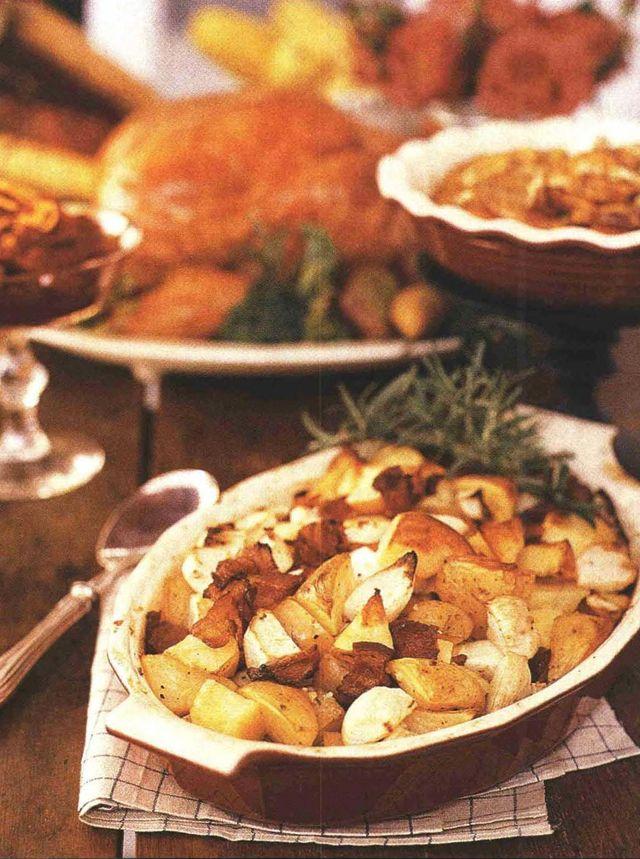 roasted potatoes turnips