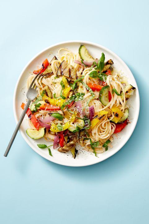 Grilled Ratatouille Linguine - Vegan Pasta Recipes