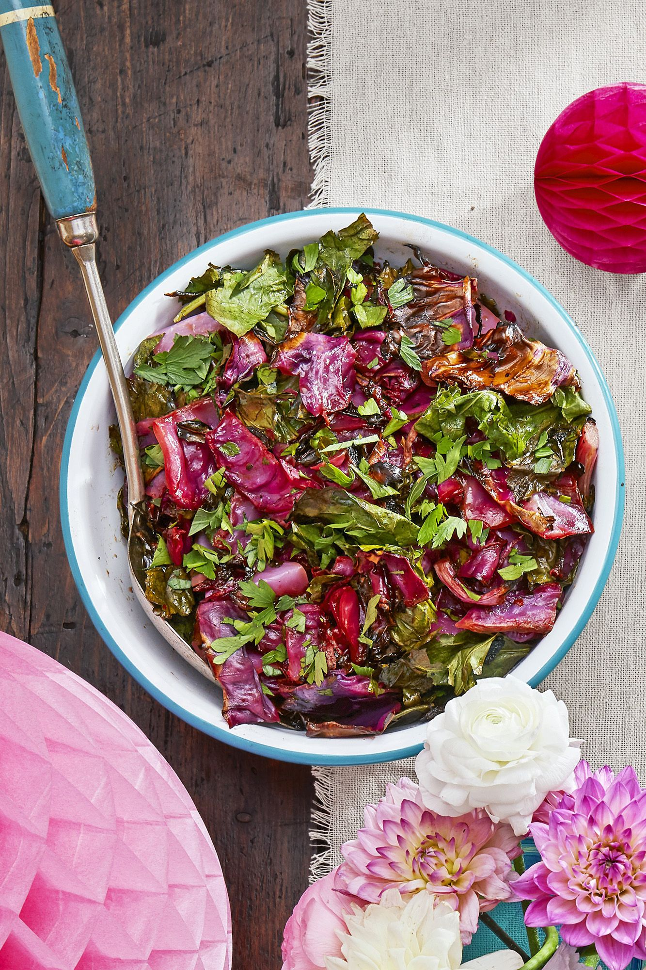 roasted red cabbage and collard green slaw recipe