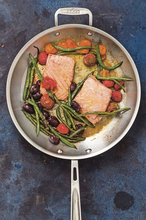 feast of seven fishes recipes   roasted salmon with tomatoes and green beans recipe