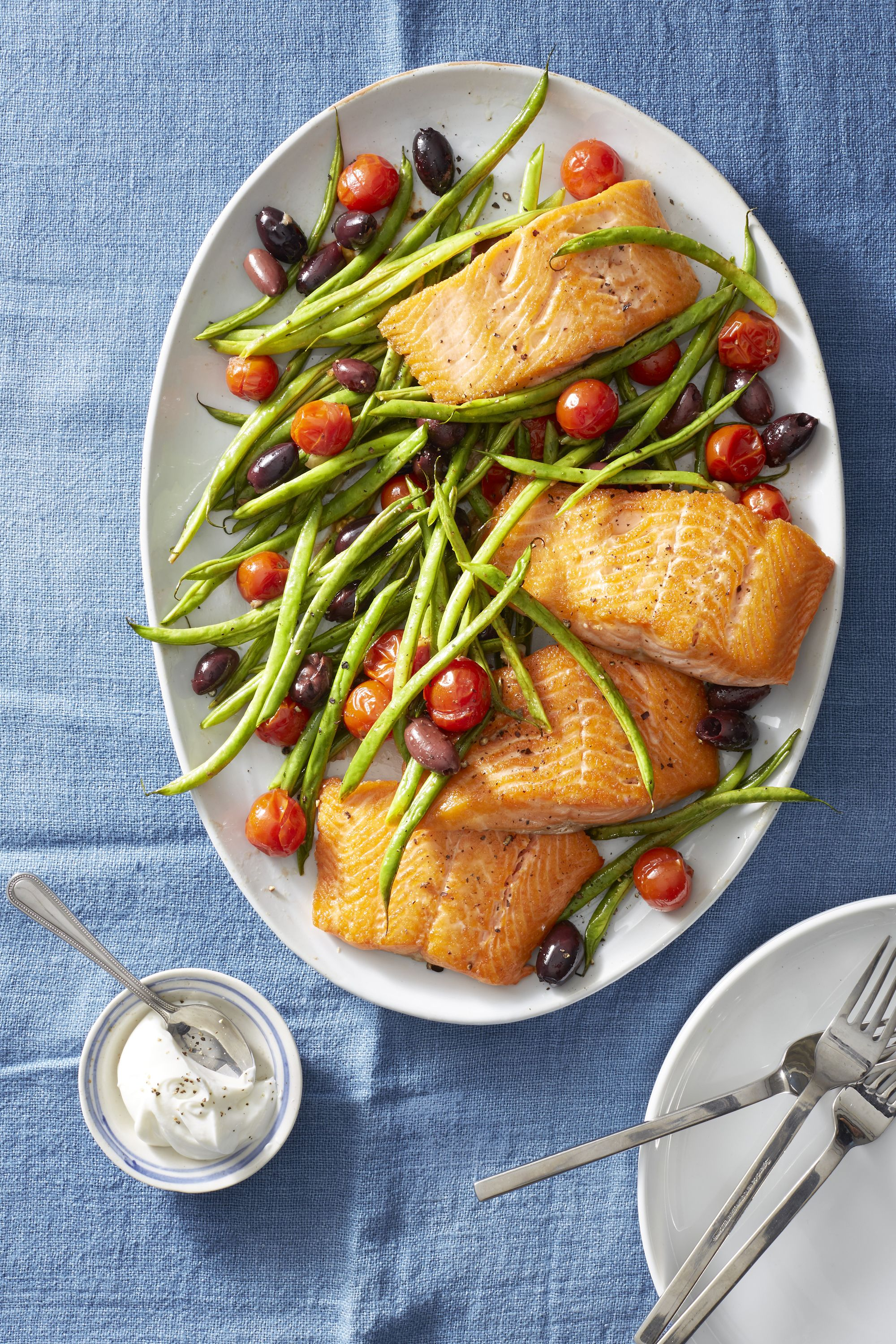 Roasted Salmon, Green Beans, and Tomatoes advise