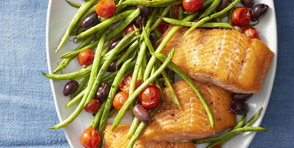 Best Roasted Salmon With Green Beans And Tomatoes Recipe